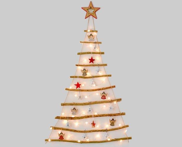 Albero di Natale minimalista, tecnica del fai da te