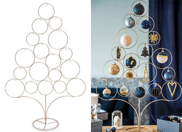 Albero minimalista in metallo dorato, Maisons Du Monde, Modern Copper