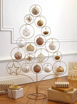 Albero minimalista in metallo dorato, Maison Du Monde, linea Modern Copper