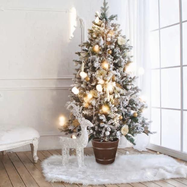 vaso copri base albero di Natale su Amazon