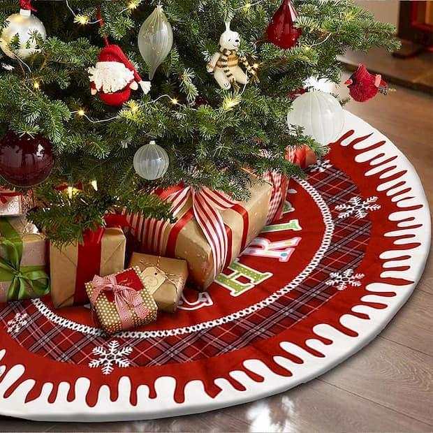 Gonna per base albero di Natale su Amazon