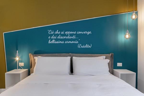 Ambiente camera da letto - progetto bilocale arch. Felicetti