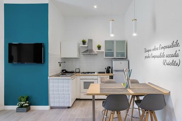 Ristrutturazione mini appartamento 45 mq - Angolo cottura arch. Felicetti