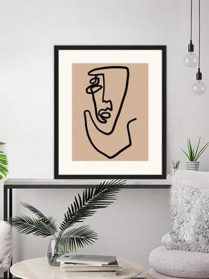 Stampa Line Art Abstract Face - Foto by Westwing