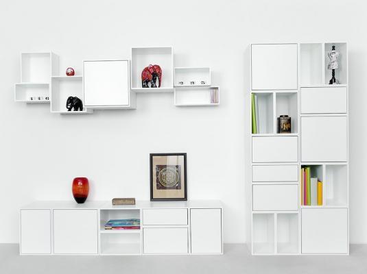 Composizione Cubit: scaffali, libreria, consolle - Foto by Cubit