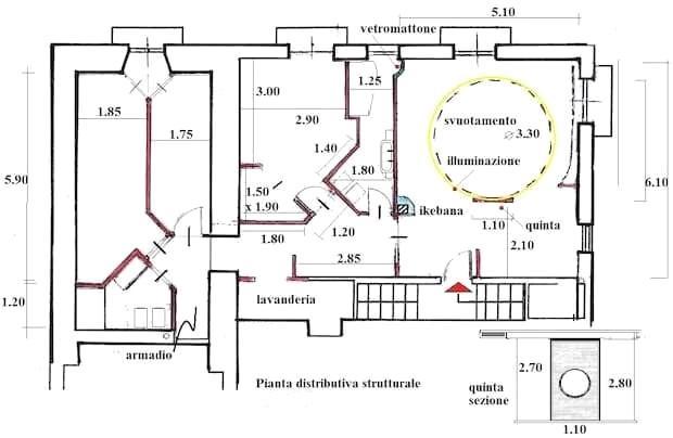 Progetto casa 90 mq: pianta strutturale