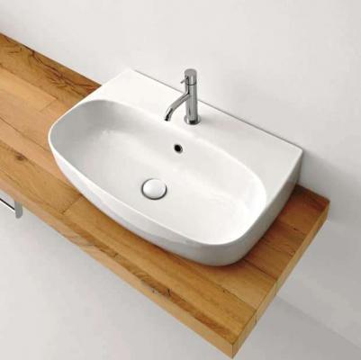 Bagno ospiti lavabo appoggio Nolita Kerasan