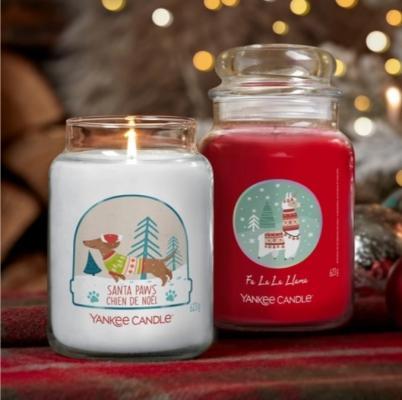 Candele natalizie in giara di Yankee Candle