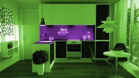 Cucine colorate per una casa giovane e vivace