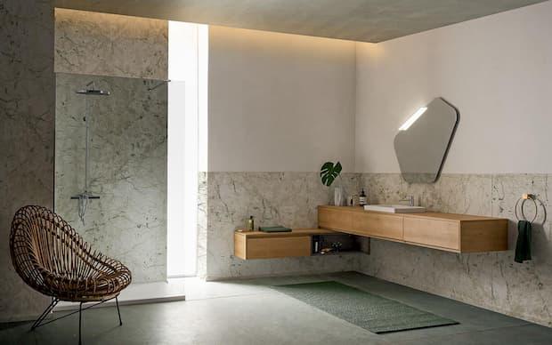 Composizione mobili bagno sospesi, Kios, linea Pandora