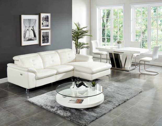 tavolino per soggiorno moderno bianco, Vente unique