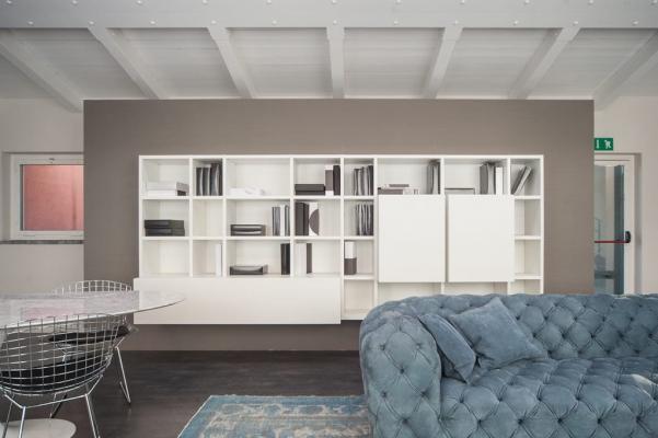 Soggiorno moderno, LEMA, libreria linea Selecta