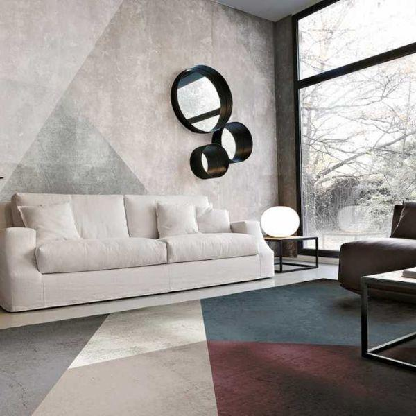Geometric, cotton and polyester rug by Adriani and Rossi