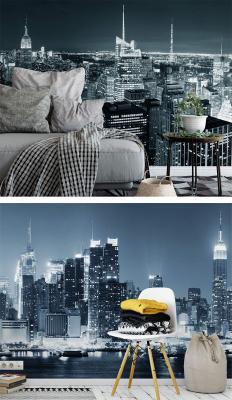 Fotomurali New York by Night 1 e 2 di Wall-art