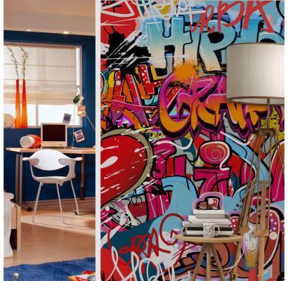 Fotomurale Graffiti Hip Hop di Wall-art
