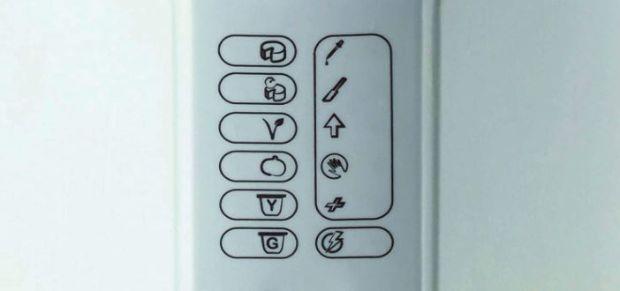 Dettaglio dell'intuitiva tastiera della B-Cheese