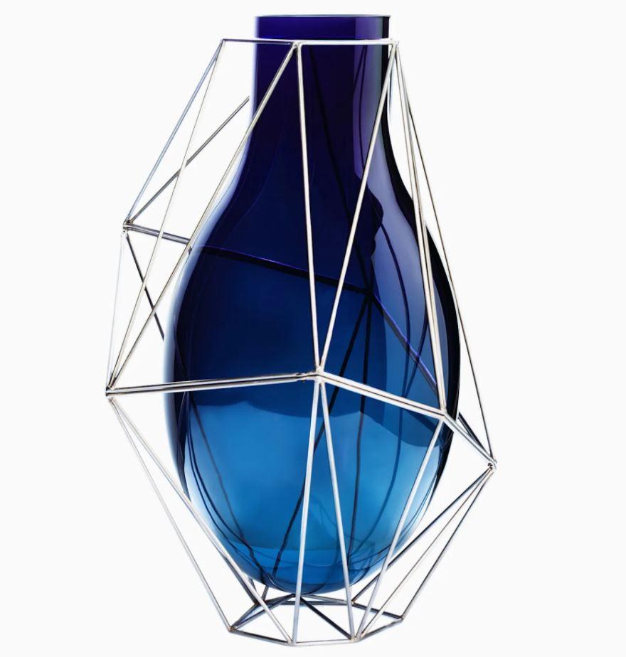 Vaso in cristallo e metallo by Swarovski