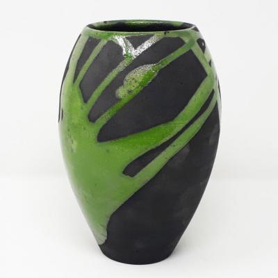 Vaso in raku effetto bombato, by LuceBuio