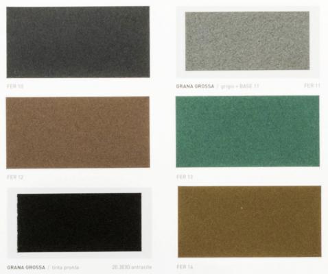 Particolare cartella colori di vernici per ferro Lyntex e Hydrolak Ferrobattuto