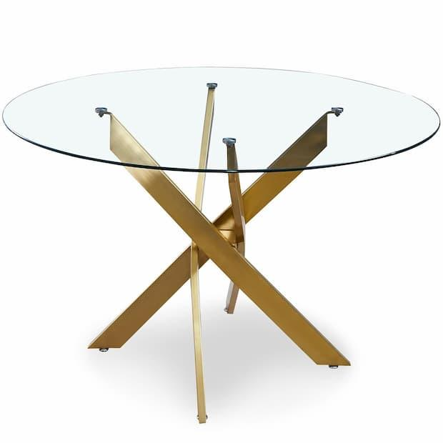Corix round table with glass top by Menzzo.it