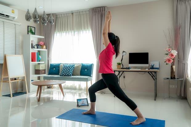 Angolo per il fitness: uno status quo nella casa del 2020