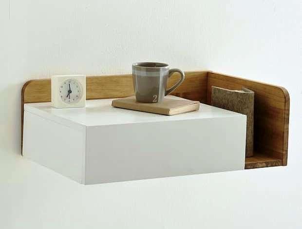 Comodino moderno, sospeso, la redoute interieurs, collezione Jimi
