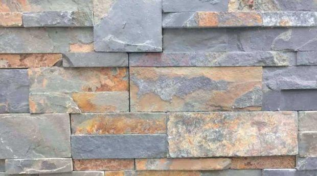 Natural stone cladding in Slate by Italpietra