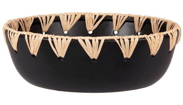 La ciotola di ceramica nera collezione Taroudant