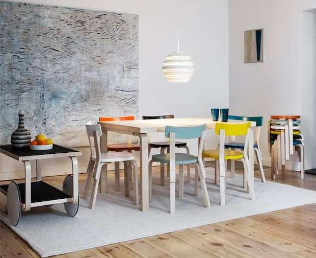 Design scandinavo, finnish design shop Artek 69, designer Alvar Aalto