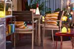 Själland, set da esterni in legno e metallo - Foto by Ikea