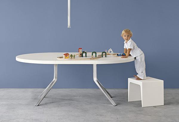 Tavolo rotondo allungabile - Kristalia