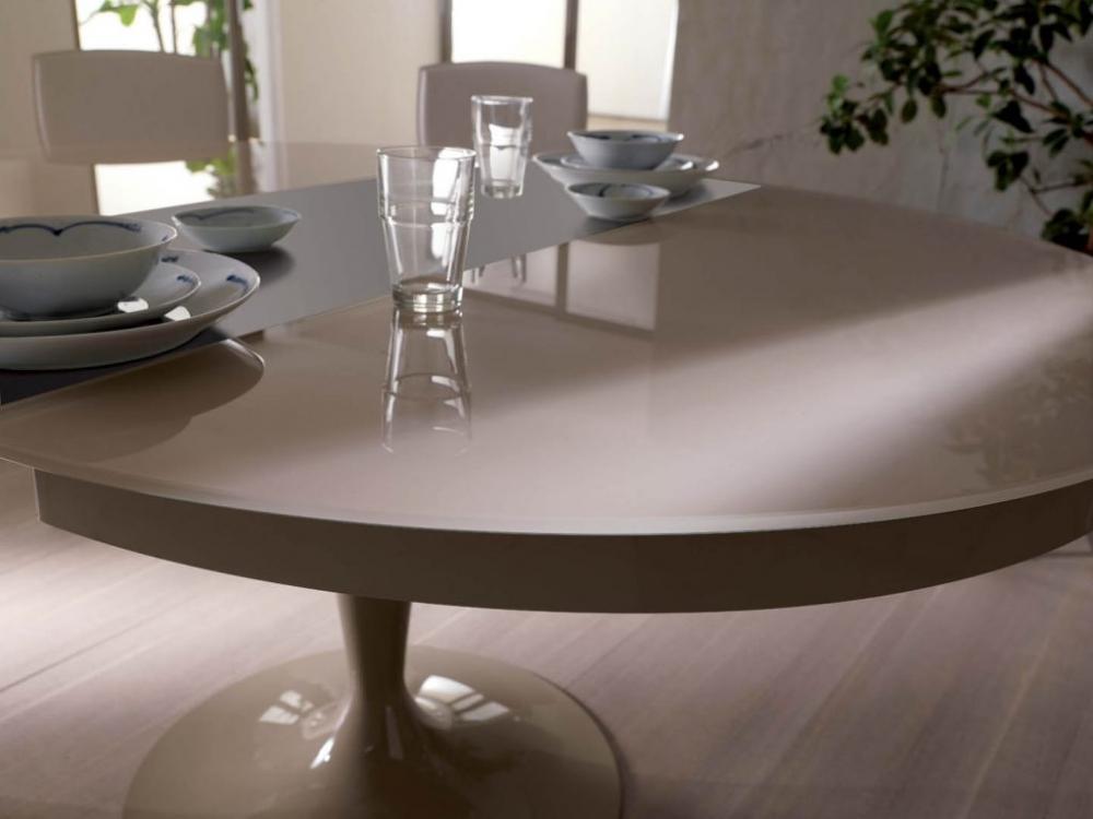 Tavolo rotondo Eclipse legno estensibile - Ozzio