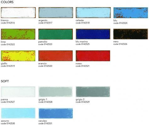 Colori della collezione di piastrelle a forma di mattoni Urban di 14oraitaliana