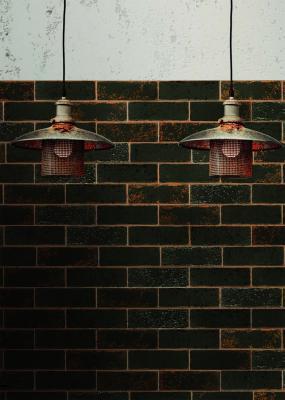 Rivestimento interno ispirato a mattoni corrosi e colorati Urban di 14oraitaliana