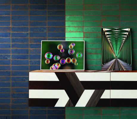 Rivestimento ispirato a mattoni colorati Urban by 14oraitaliana