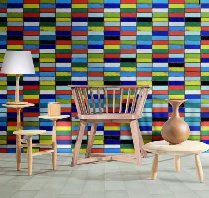 Rivestimento ispirato a mattoni colorati Urban di 14oraitaliana