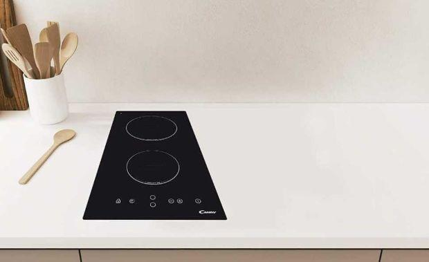 The Candy two-burner hob