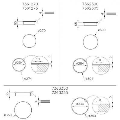 Misure piano cottura ad induzione modulare FOSTER
