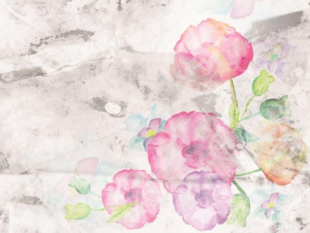 Design Carta da Parati Artistica acquerello fiori