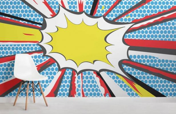 Pop art muralswallpaper