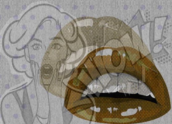 Carta da parati pop art suzie by tecnografica