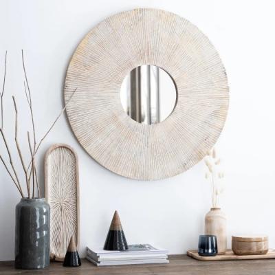 Vijna, specchio marrone écru - Foto by Maisons du Monde