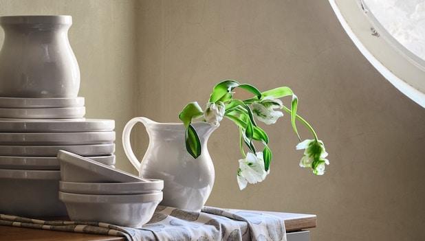 Ciotole, vaso e brocca Dekorera - Foto by Ikea