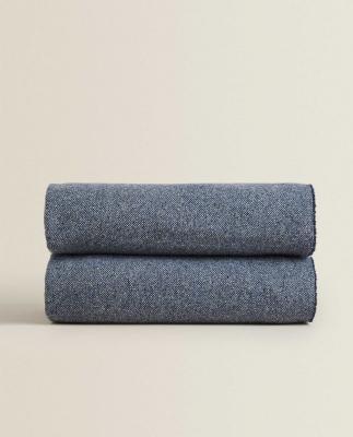 Coperta in lana blu - Foto by Zara Home