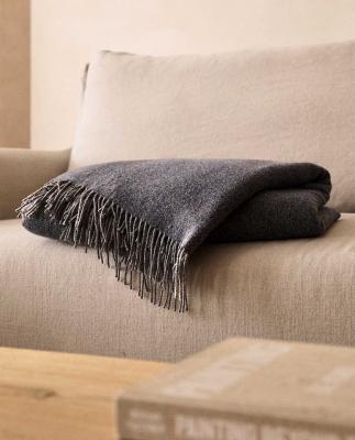 Coperta in lana mélange - Foto by Zara Home