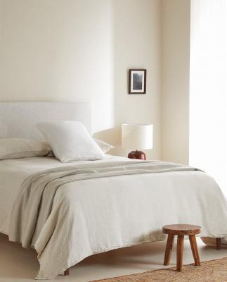 Copripiumino in lino lavato chiaro - Foto by Zara Home