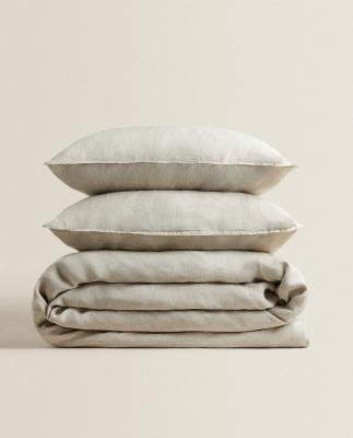 Federe e copripiumino in lino lavato - Foto by Zara Home