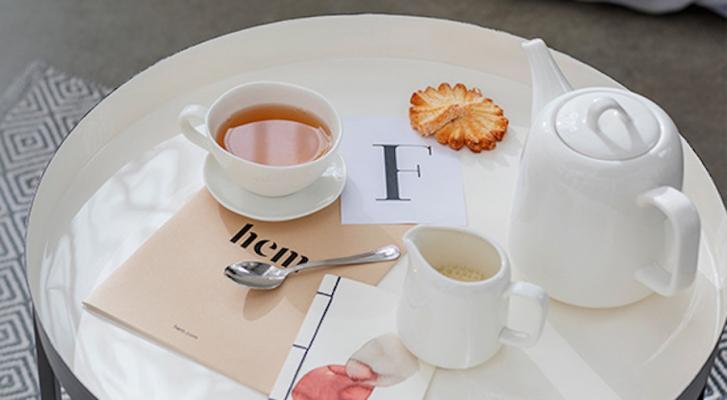 Set da tè, collezione Aria di Bianco - Foto by Coincasa