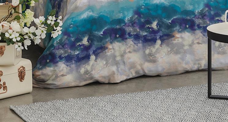 Tappeto in cotone, collezione Aria di Bianco - Foto by Coincasa