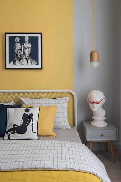 Porzione di parete in giallo polveroso - credits Pinterest
